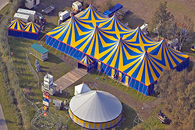 Tarpaulin Tent Roof by Tentech